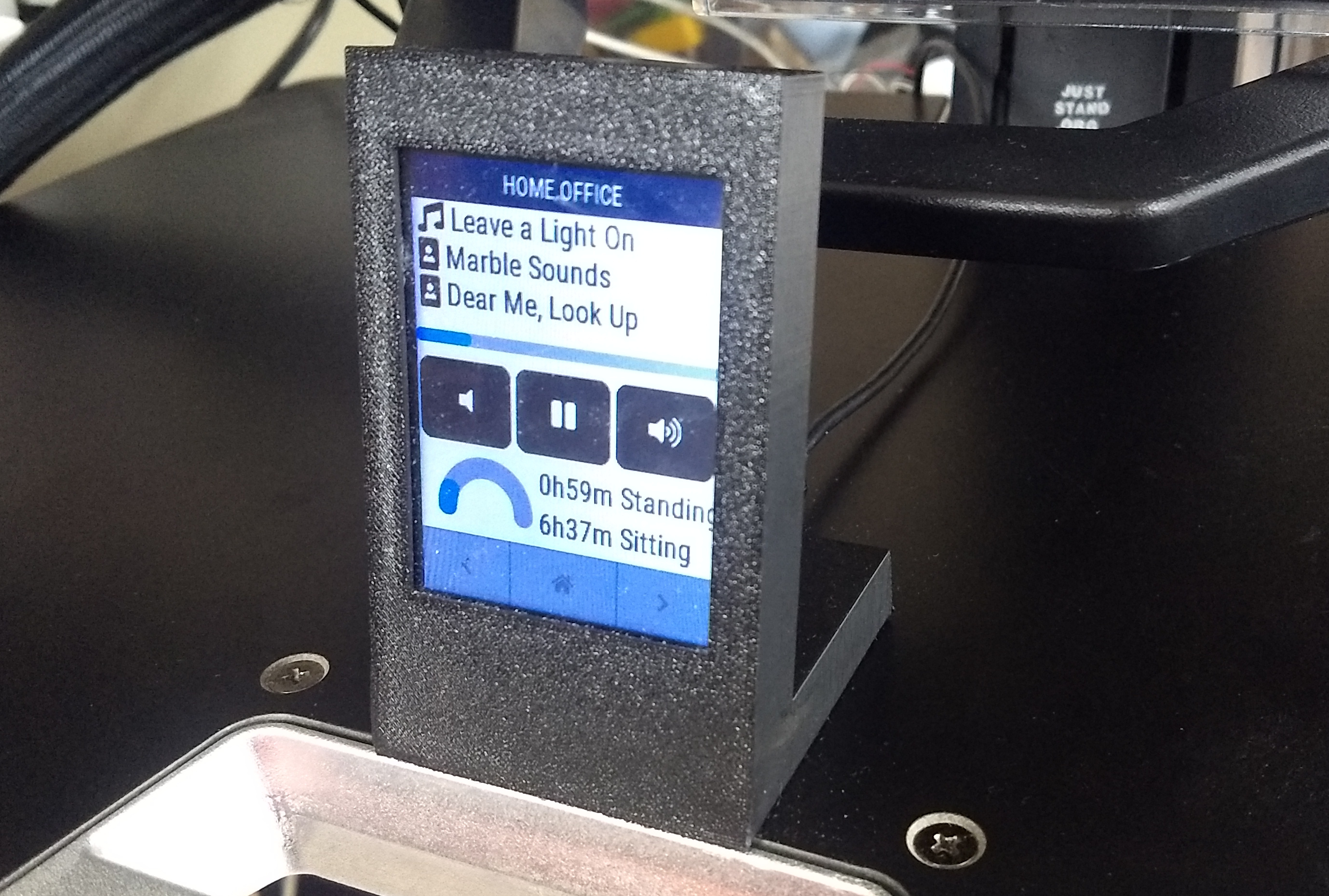 openHASP running in a 3D printed case