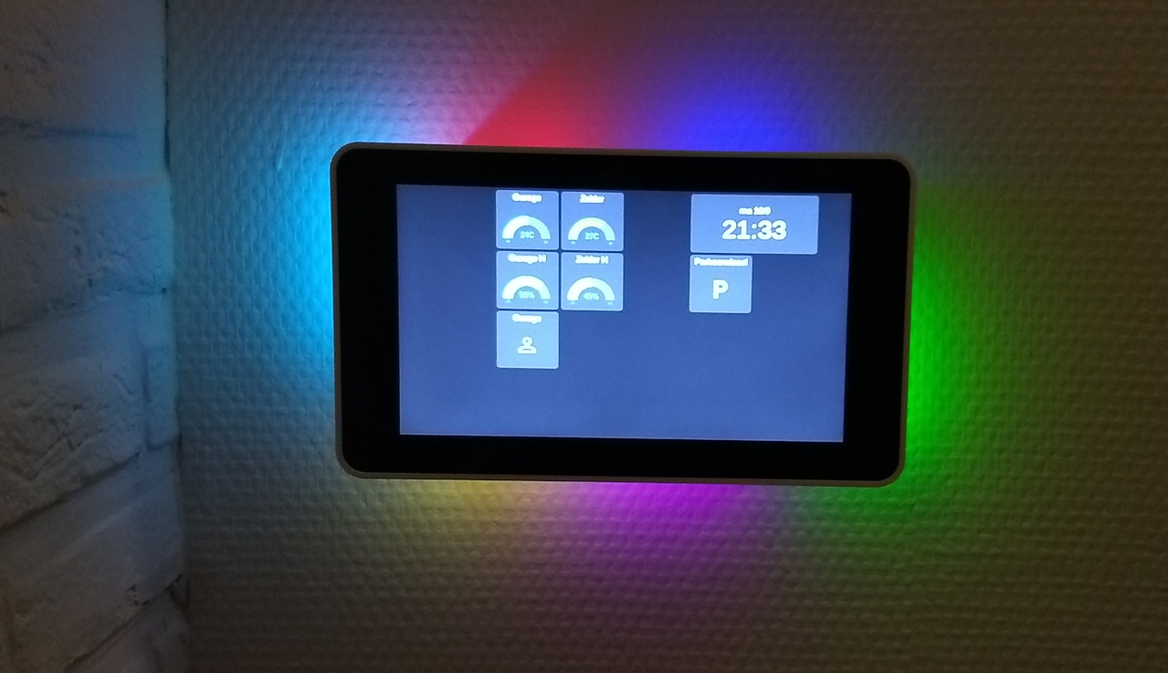 Touch display on the wall
