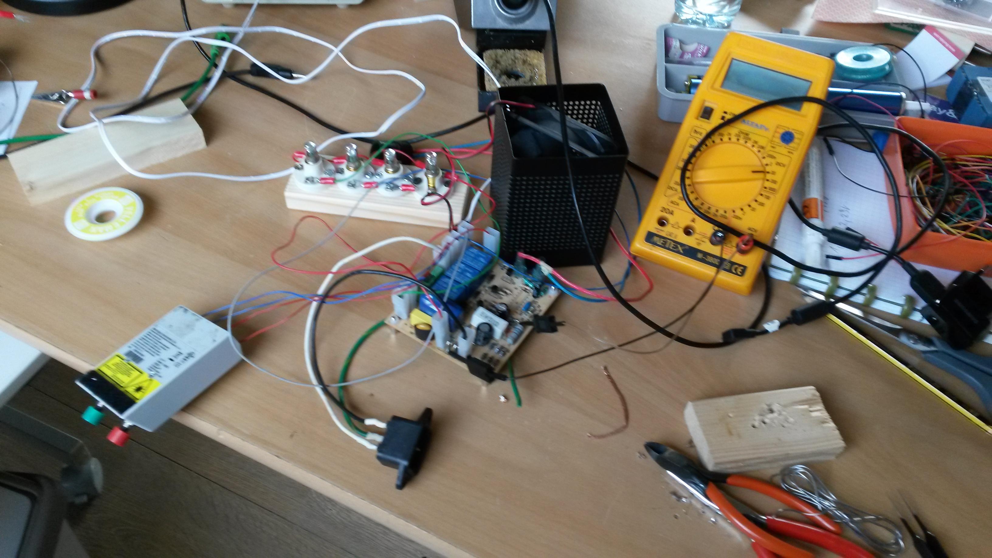 high-voltage testing setup